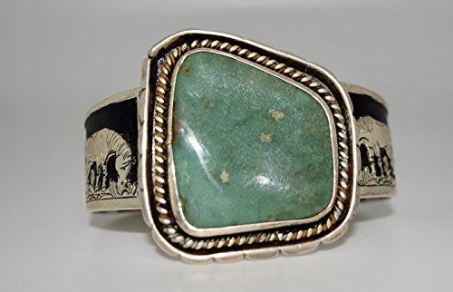 Kachina Pony (Gorgeous Turquoise Bracelet with Detailed Horse and Pony Design)