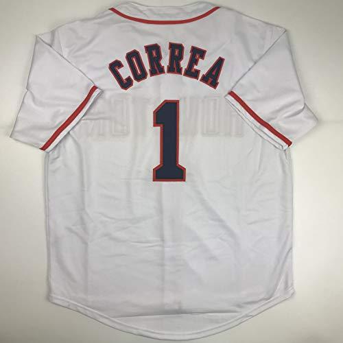 Unsigned Carlos Correa Houston White Custom Stitched Baseball Jersey Size Men's XL New No Brands/Logos ()