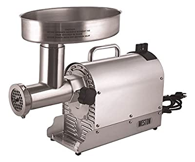 Weston (10-3201-W) Pro Series Electric Meat Grinders (2 HP, 1500 Watts) - Silver