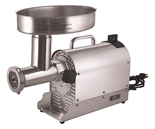 Weston (10-3201-W)  Pro Series Electric Meat Grinders (2 HP, 1500 Watts) - Silver ()
