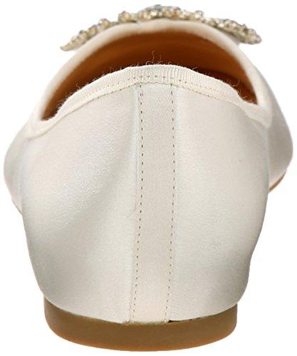 Badgley Mischka Women's Abella Ballet Flat Ivory mQFAgAL
