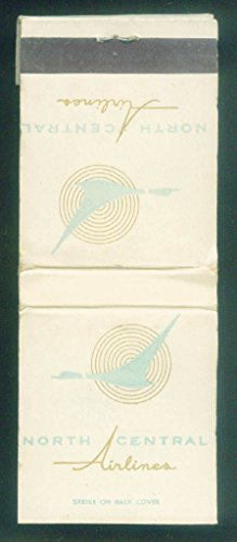 North Central Airlines airline matchbook 20-stick unused