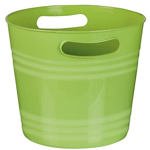 Party Perfect Ice Bucket Serve ware, 1 Piece, Made from Plastic, Kiwi Green, 8 3/8