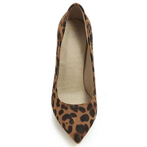leopard Donne Giallo On Pumps Basic Scarpe Lydee Spillo Tacchi Slip A 1ZOHnn