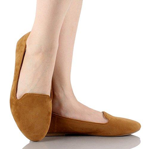 Pour Toujours Les Femmes Diana-81 Ballet Mocassins-chaussures Chaussures Tan