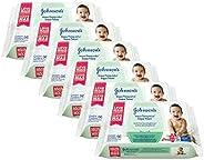 Kit Toalhas Umedecidas Johnsons Baby Hora do Sono 6 pacotes com 96 unidades cada