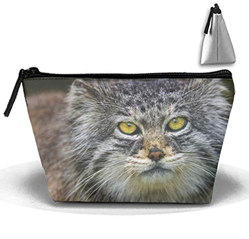 Pallas Cat Head Stylish Toiletry Pouch Travel Protable Cosmetic Storage Bag Waterproof