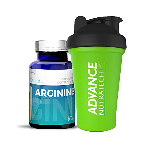 Arginine Aminos Pre-workout 30 Capsules Unflavored with Shaker by ADVANCE NUTRATECH