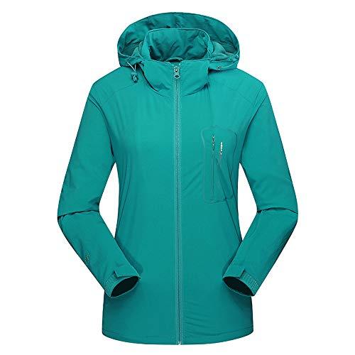 Usstore  Unisex Assault Coat Fall Winter Soft Shell Cashmere Waterproof Plus Velvet Warm Sports Outdoor Outer Jacket (XXXXXL, Sky Blue)
