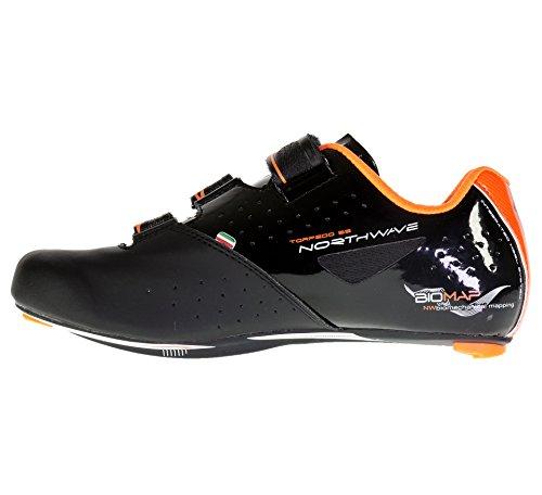 Northwave Torpedo Rennrad Fahrrad Schuhe schwarz/orange 2016