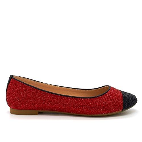 London Footwear - Ballet mujer Rojo - rojo