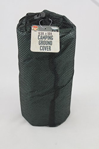 Qornerstone Camping Ground Cover Tarp – Waterproof Reinforced Plastic Weaving – 6.5' x 10' Area – Metal Grommet Corners– Compact Storage – Dark Green - By Kelty Sunshade Large Accessory