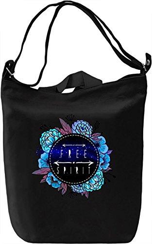 Free Spirit Borsa Giornaliera Canvas Canvas Day Bag| 100% Premium Cotton Canvas| DTG Printing|