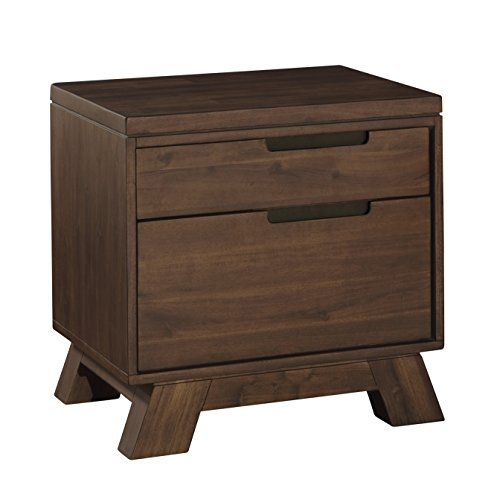 - Modus Furniture 7Z4881 Portland Solid Wood Nightstand, Walnut