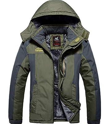 XinDao Men's Winter Mountain Waterproof Jacket Fleece Ski Jacket Coats