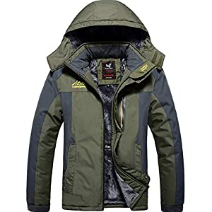 XinDao Men's Mountain Waterproof Ski Jacket Windproof Rain Jacket