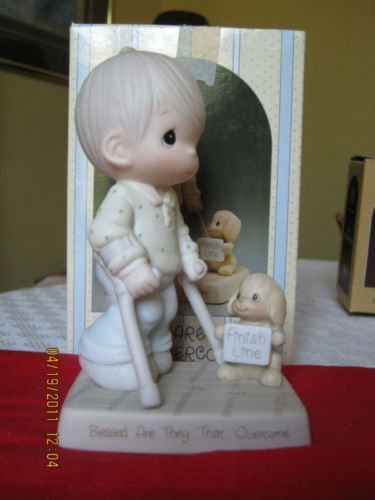 "Precious Moments ""Blessed Are They That Overcome"" Easter Seals 1988 Limited Edition #115479"