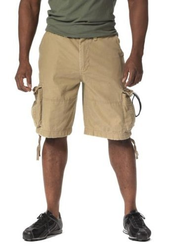 Rothco Vintage Infantry Shorts, Khaki, Small