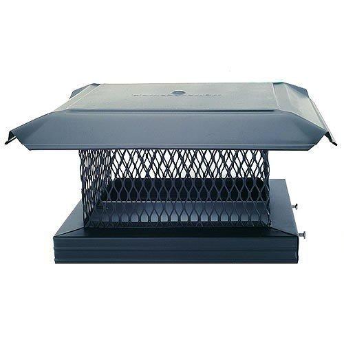 Homesaver 14807 13 Inch x 13 Inch HomeSaver Pro Black Cap 3/4 Inch 18-ga 8 Inch High Mesh 24-ga - Cap Homesaver Galvanized Chimney