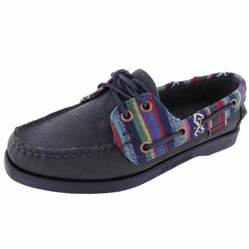 Sebago Women's Spinnaker Boat Shoe,Navy/Tribal,6 M US