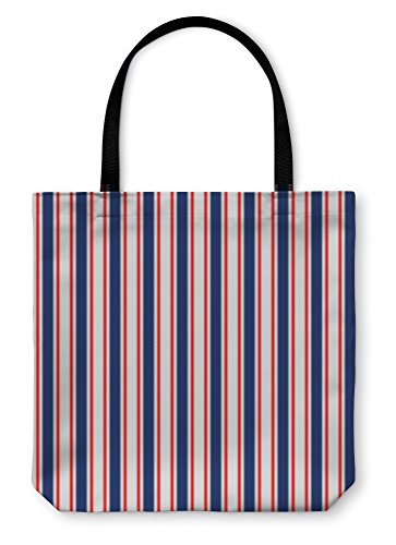 te Hand Bag, Abstract Geometric Simple Striped Pattern In Blue Red And White, 18x18, 6059551GN (Traditional Stripe Wallpaper)