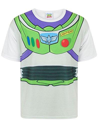 Disney Pixar Costumes Uk (Disney Toy Story Buzz Lightyear Costume Boy's T-Shirt (5-6 Years))
