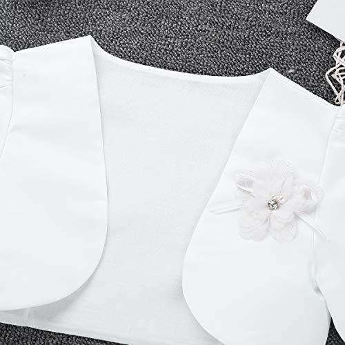 Flower Girl Bolero Shrug Jacket Bridesmaid Pageant Short Cardigan Dress Cover Up