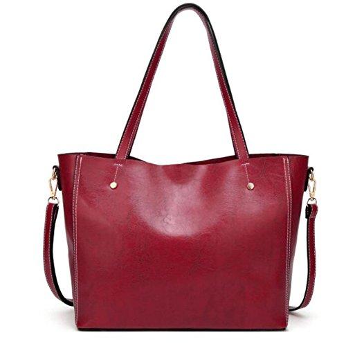 Ademi Stylish Leather Bag Women Shoulder Messenger Bag Pink