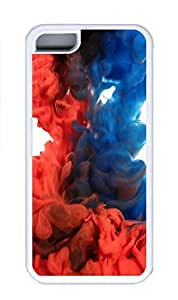 iPhone 5C Case, Personalized Custom Rubber TPU White Case for iphone 5C - Red Blue Cover