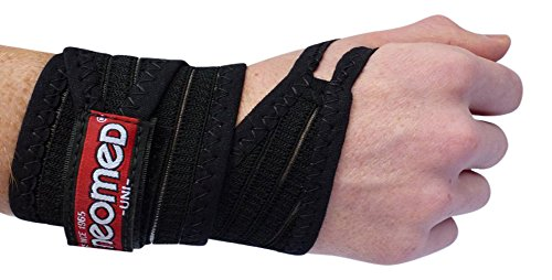 Wrist Support Strap Wrist Support Band Wrist Brace with Velcro Wrist Support with Universal Cuff Wrist Wrap with Thumb Loop and Bio Ceramic Balls FIR Technology