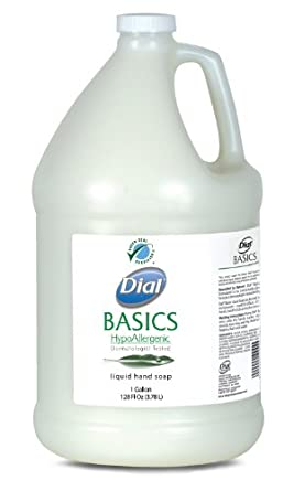 Dial 06047 Basics Hypoallergenic Liquid Soap, 1 Gallon, (Case of 4)
