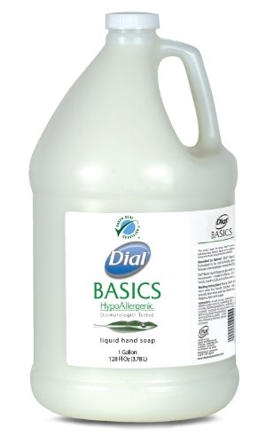 Dial 1325980 Basics Honeysuckle Floral White Pearl Hypoallergenic Liquid Hand Soap, 1 Gallon Bottle (Pack of 4) (Dial Hand Soap Bulk compare prices)