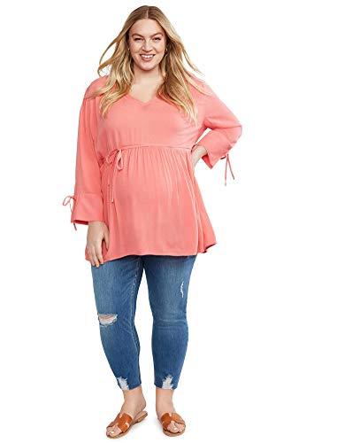 0a17dad74f9f2 Motherhood Plus Size Secret Fit Belly Skinny Leg Maternity Crop Jeans Blue