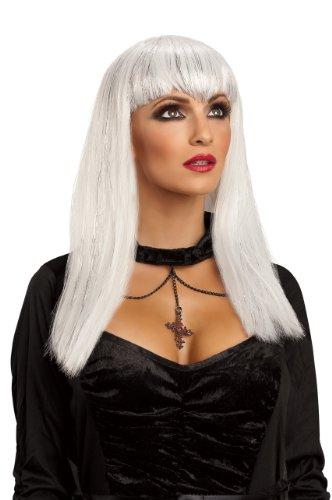 [Rubie's Costume Adult Glitter Vamp Wig, White, One Size] (Glitter Wigs)