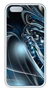 3D Abstract Hd TPU Silicone Rubber iPhone 5 and iPhone 5S Case Cover - White