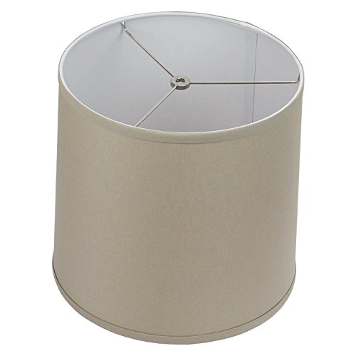 FenchelShades.com 12″ Top Diameter x 13″ Bottom Diameter 12″ Slant Height Lampshade Retro Rustic Vintage Hardback Liner USA Made (Stone)