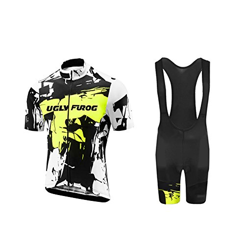 Comp 7 Bibs - Uglyfrog 2018 Men's summer Cycling Jersey Road Bike Set Short Sleeves Jersey + Bib Shorts breathable and quickly dry USDXTZYSB03