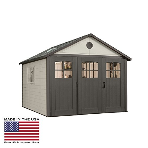 Lifetime-11-x-21-ft-Outdoor-Storage-Shed-with-Tri-Fold-Doors