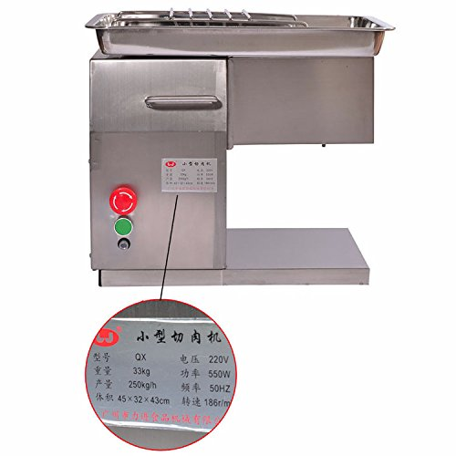 Kohstar 220V(110v) QX Stainless Steel Meat Slicer/Cutter Desktop Type Meat Cutter Meat Cutting Machine