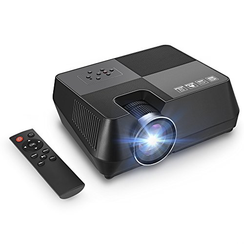 GBTIGER Video Projector Portable Led Home Theater Projector Mini Projector Up 170 inches Display Support Full HD 1080P HDMI USB VGA AV Connect iPhone Laptop Android Smartphone PS4