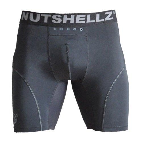 - Nutshellz Men's Compression Short with Cup Pocket, Black