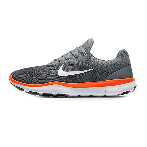 NIKE Mens Free Trainer V7 Training Shoes (12 D(M) US, Cool Grey/Hyper Crimson/Black/White) by NIKE