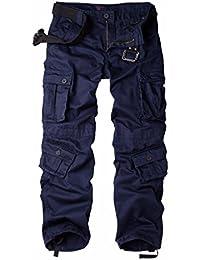 Women's Casual Loose Fit 8 Pockets Cargo Pants Plus Size...
