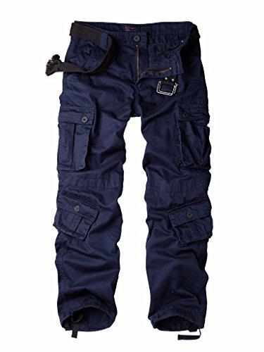 - AUSZOSLT Men's Outdoor Woodland Military Cargo Pant Blue 30