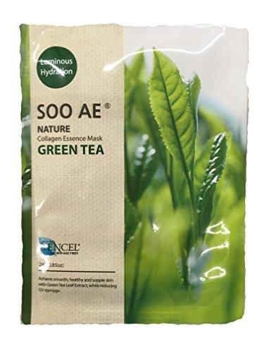 soo ae Luminous Hydration Collagen Essence Mask Green Tea