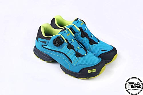 - NARZIO Hiking - FDA Registered Orthopedic Unisex Ultralight Footwear for Diabetes I Reduces Blood Pressure I Prevents Arthritis & Fatigue - BOA Closure System Hiking Shoes for All Season [Blue]