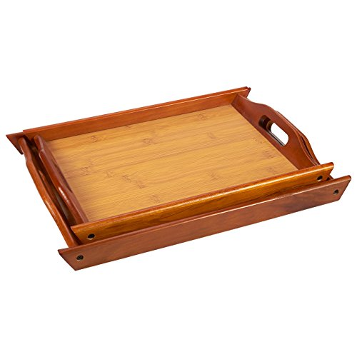 976cbf51db Two well constructed stackable wooden trays with routed handles for easy  carrying ...