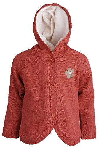 wippette-baby-girls-long-sleeve-fleece-lined-knitted-cardigan-sweater-with-hood-tomato-12-months