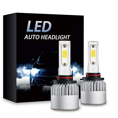 9005 (HB3) LED Headlight bulbs 64W 8000LM 6500K Extremely Bright Car Headlamp Bulbs Conversion Kit (2-Pack) (9005 Phillips Xtreme Vision)