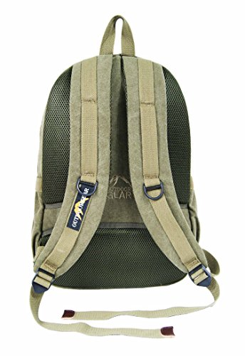 OUTDOOR 13 Travel Women Bag Hiking 15 13 Backpack Olive Liters Navy Rucksack Canvas Weekend 30 Laptop 15 3 Inch 6 GEAR Mens Camping rxaCqwnrY